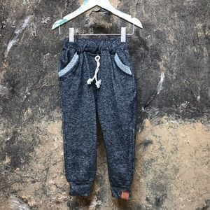 Park and Willow heather black terry joggers